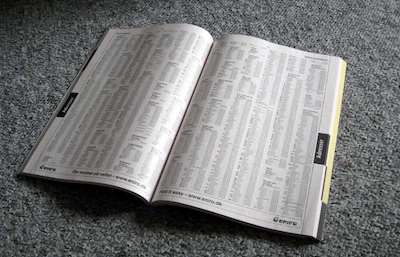 Old-Fashioned Telephone Directory