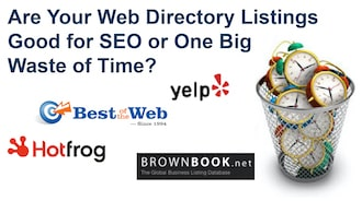 Yelp, Brownbook,net, Best of the Web and Hotfrog