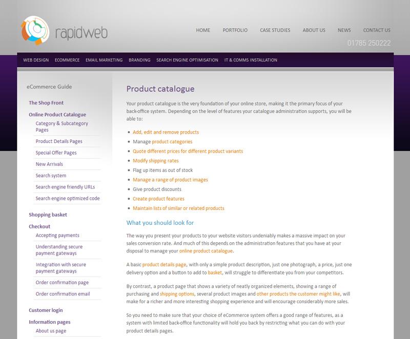 E Commerce About Us Page Content